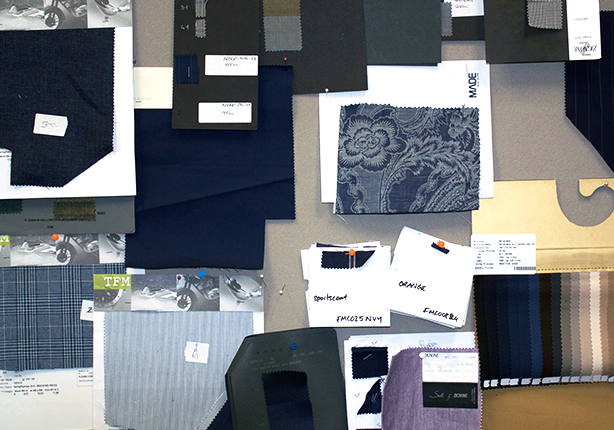 Fashion fabric swatches - peter jackson menswear