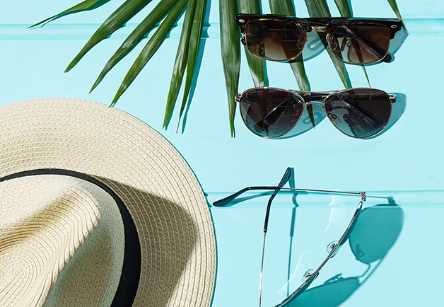 Clubmasters, sunglasses, aviators, summer accessories, panama hat, summer accessories