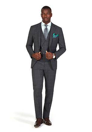 Caulfield Cup Style Guide | Race Day Look Caulfield | Charcoal Windowpane Suit