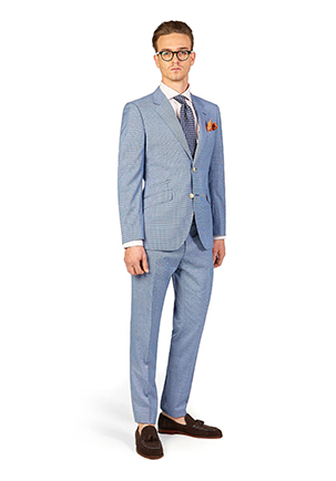 Caulfield Cup Style Guide | Race Day Look Caulfield | Blue Houndstooth Suit