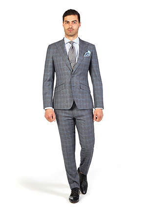 Derby Day Style Guide | Race Day Look Caulfield | Charcoal Prince of Wales Check Suit
