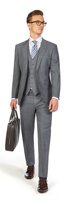 Grey Pinstripe Suit | Derby Day Dress Code| Men's Race Wear | Peter Jackson Menswear