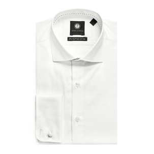 Ivory French Cuff Shirt | Derby Day Shirts | Derby Day Dress Code| Men's Race Wear | Peter Jackson Menswear
