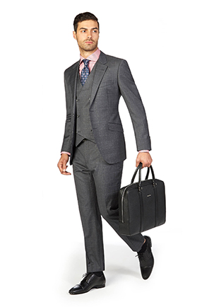 Derby Day Style Guide | Race Day Look Caulfield | Charcoal Windowpane Check Suit
