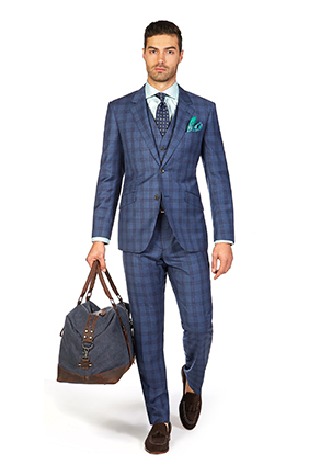 Melbourne Cup Style Guide | Race Day Look Melbourne Cup | Indigo Windowpane Check Suit