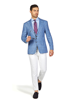 Melbourne Cup Style Guide | Race Day Look Melbourne Cup | Blue Windowpane Check Blazer