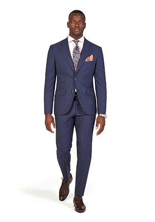 Oaks Day Style Guide | Race Day Look Oaks Day | Navy Prince of Wales Suit