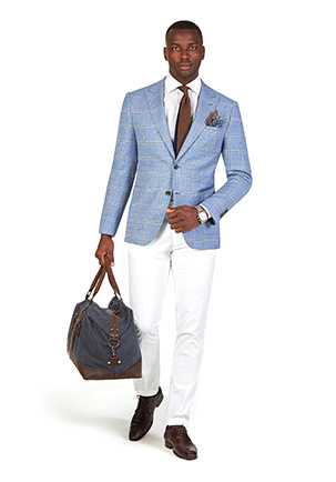 Stakes Day Style Guide | Race Day Look Stakes Day | Blue Windowpane Check Blazer