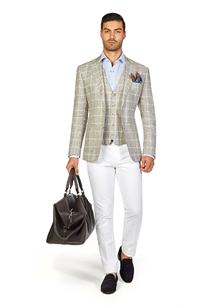 Stakes Day Style Guide | Race Day Look Stakes Day | Oat Windowpane Check Blazer