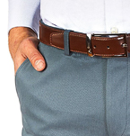 Mens Gift Guide | Mens Blue Chinos | Peter Jackson Cotton Trousers