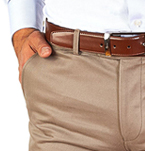 Mens Gift Guide | Mens Brown Chinos | Peter Jackson Cotton Trousers