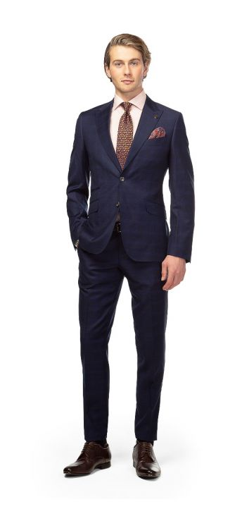 Navy Double-Check Suit