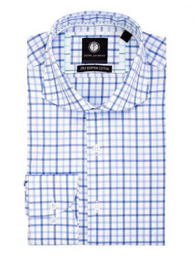 Blue Multi-Gingham Shirt