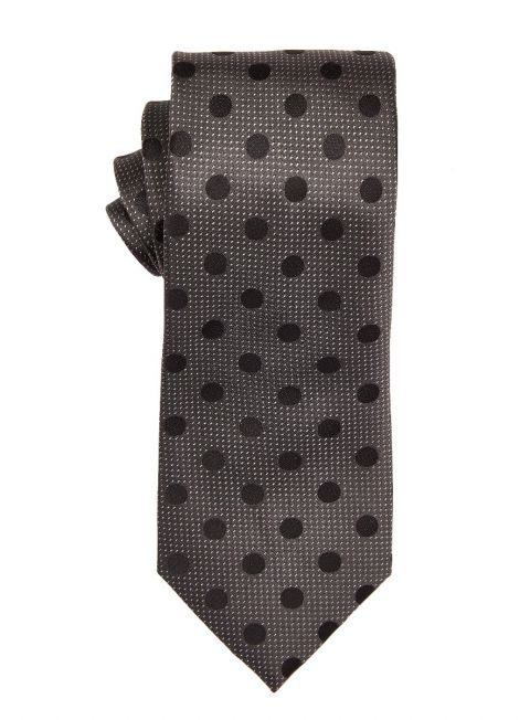 Charcoal Large Polka Dot Tie